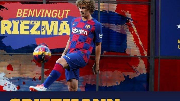 RESMI - Griezmann Pindah ke Barcelona dan Senang Bisa Main Bareng Messi, Berapa Nomor Punggungnya?