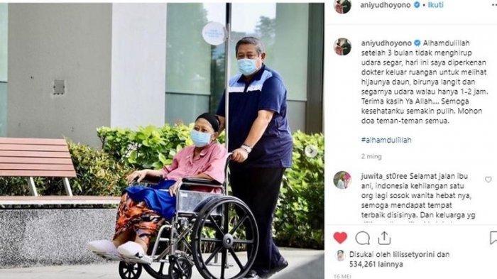 Ini Dia Unggahan Terakhir Ani Yudhoyono di Instagram, Mohon Doa Agar Kesehatannya Segera Pulih