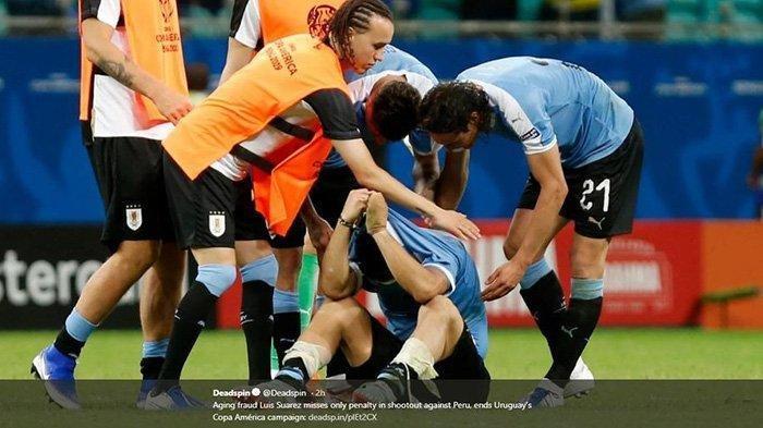 Suarez Gagal Eksekusi Penalti ke Gawang Peru, Uruguay Tersingkir dari Copa America 2019