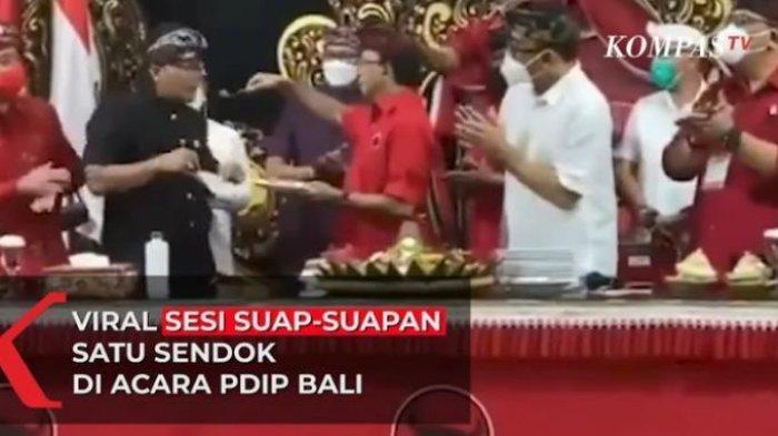 Petinggi PDIP di Bali Berbagi Satu Sendok untuk Suap-suapan Tumpeng, Ketua DPD: Sudah Tes Antigen