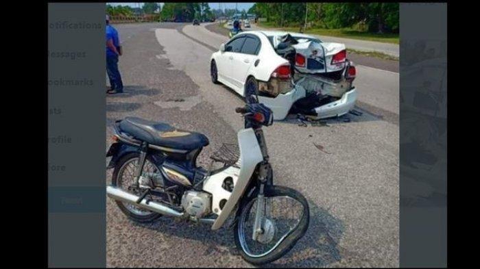 Kemarin CBR1000 Vs Ayla Viral, Kini Viral Honda Civic Hancur Ditabrak Astrea Prima, Ini Faktanya