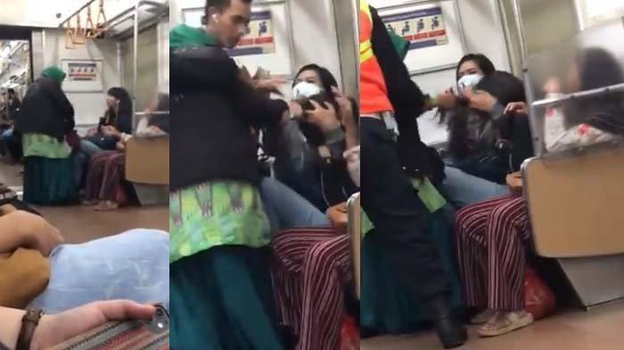 Video Viral Ibu-ibu Jambak Rambut Wanita Muda di KRL Sambil Teriak Kencang, Awalnya Ditegur Soal Ini
