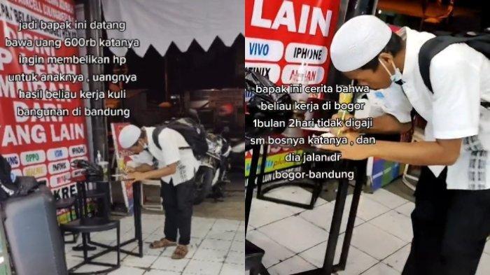 Cerita Seorang Ayah Tunarungu Jalan Kaki Jakarta-Bandung, Belikan HP Rp 600 Ribu untuk Anaknya Viral