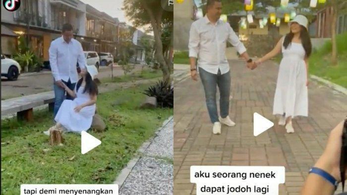 Heboh Nenek Cantik Dapat Jodoh Pria Brondong, Beda Usia 20 Tahun, Video Prewedding Viral di TikTok