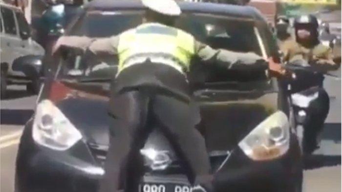 TERUNGKAP, Ternyata Polisi yang Ditabrak Pengemudi Mobil Hitam Anggota Satlantas Polsek Cicendo