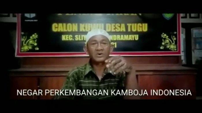 Pidato Calon Kades di Indramayu Ini Viral di Medsos, Bawa-bawa Presiden dan Kamboja, Ternyata ODGJ