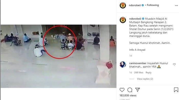 Seorang Pria Tiba-tiba Meninggal Setelah Imami Salat Zuhur, Rekaman Video di Masjid Menjadi Viral