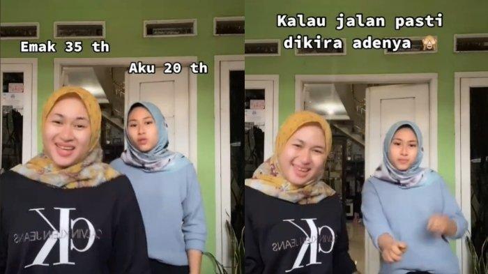 VIDEO VIRAL di TikTok, Ibu dan Anak Cantik yang Usianya Beda 15 Tahun, Sering Dianggap Adik-Kakak