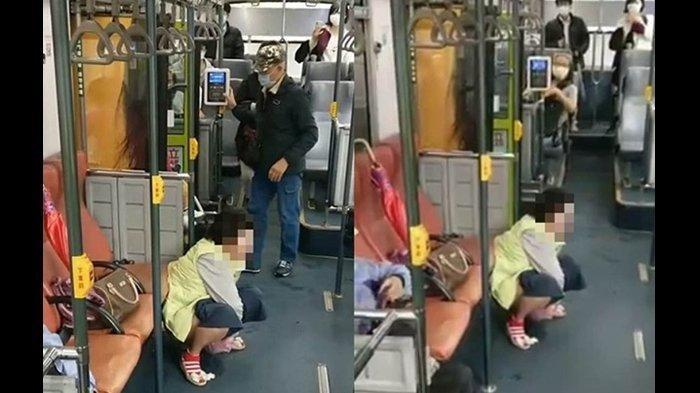 Emak-emak Berak di dalam Bus, Turun dari Kursi Lalu Jongkok, Otomatis Membuat Penumpang Jijik