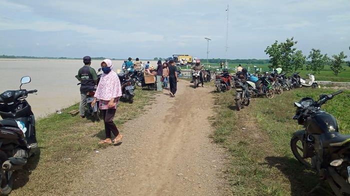 BPBD Sebut Pergeseran Dinding Penahan di Waduk Cipancuh Indramayu Sudah Sejauh 2 Meter