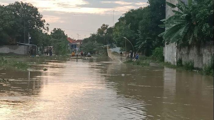Dampak Banjir, Ribuan Hektare Tambak di Indramayu Rusak, Paling Parah di Losarang, Ikan pada Kabur