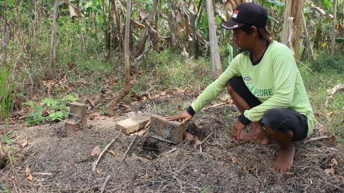 Tugu Kuno Bekas Perbatasan Indramayu-Sumedang Larang Ditemukan Warga Dekat Sungai Cimanuk