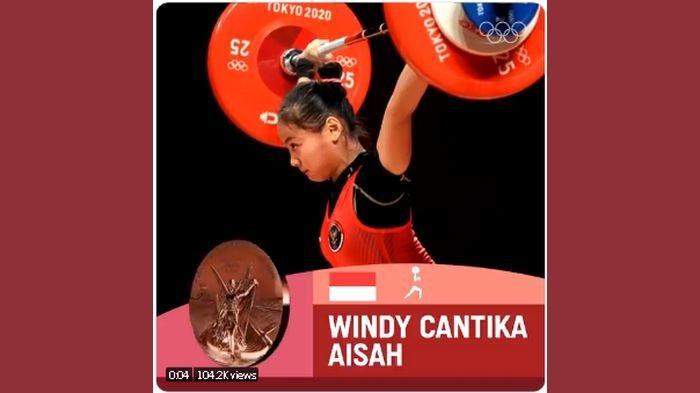 SOSOK Windy Cantika, Atlet Asal Bandung Peraih Medali Pertama untuk Indonesia di Olimpiade Tokyo