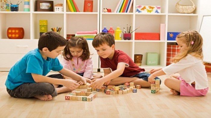 Ilustrasi - Anak-anak sedang bermain bersama