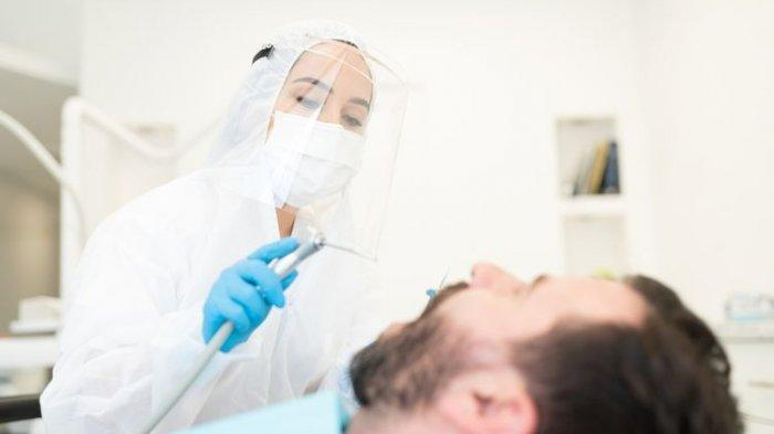 Ilustrasi pemeriksaan dokter gigi selama pandemi