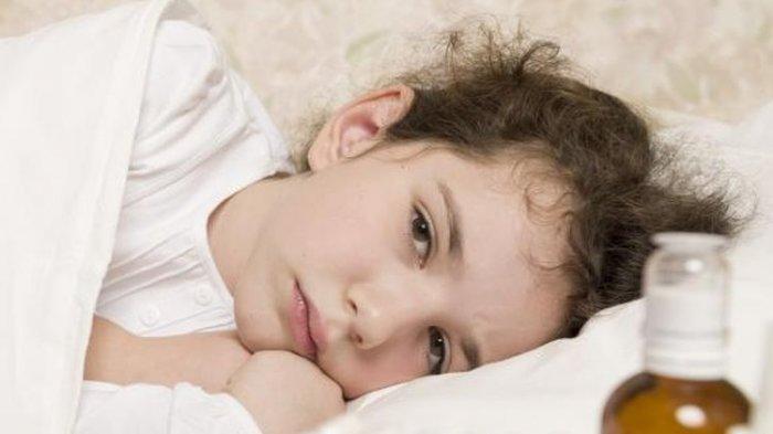 ilustrasi flu dan batuk pada anak