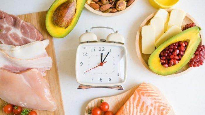 Ilustrasi bahan makanan diet