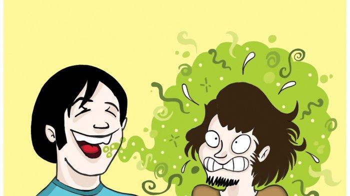 Ilustrasi bau mulut atau halitosis