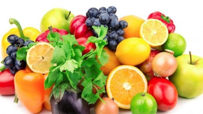 Ilustrasi berbagai macam buah segar