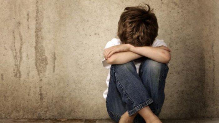 Ilustrasi anak mengalami trauma karena kekerasan