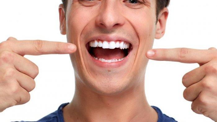 Ilustrasi gigi pria yang maju