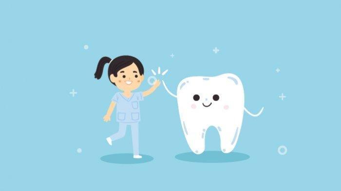 Ilustrasi himbauan menjaga kesehatan gigi dan mulut