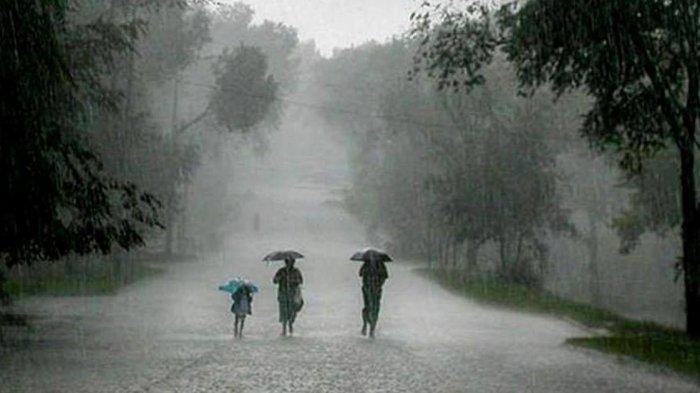 Ilustrasi hujan deras akibat cuaca ekstrim
