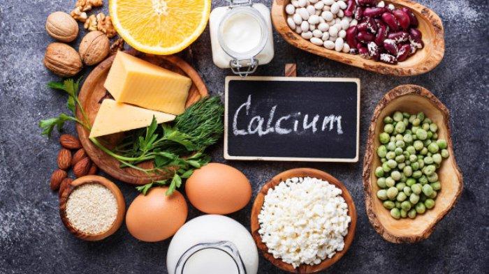 Ilustrasi jenis makanan dan minuman yang mengandung kalsium
