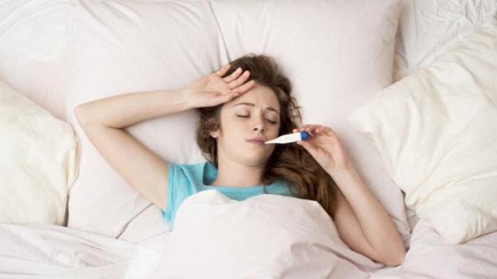Ilustrasi menderita demam karena alami radang usus buntu