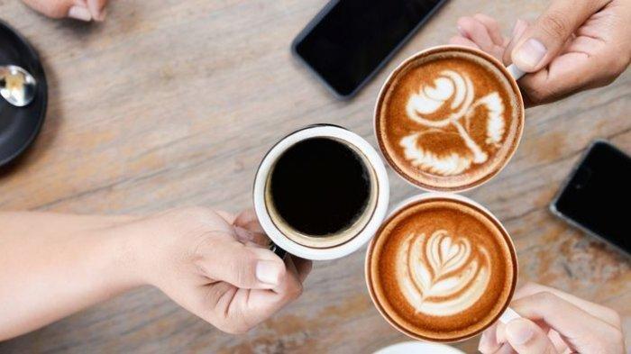 Ilustrasi mengonsumsi kopi