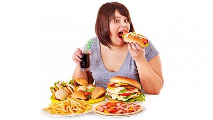 Ilustrasi obesitas karena pola hidup yang tidak bagus