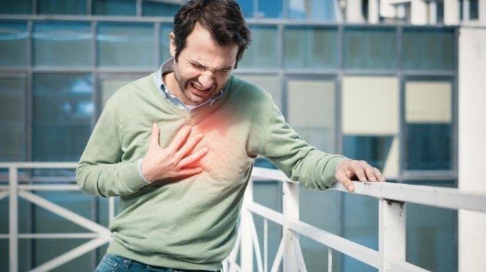 Ilustrasi serangan jantung yang dapat terjadi saat seseorang tengah beraktivitas
