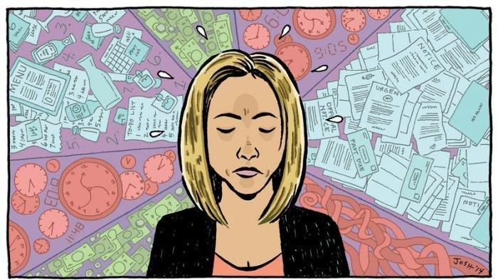 Ilustrasi gangguan mental seorang wanita