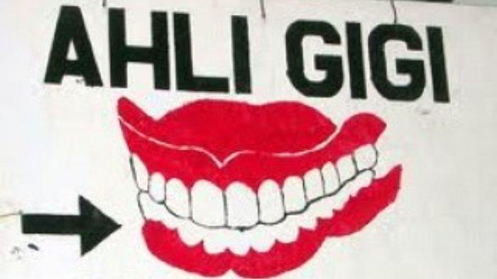 Ilustrasi tukang gigi.