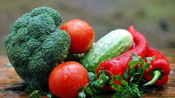 Ilustri sayuran yang telah dicuci bersih