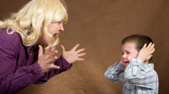 ilustrasi potret orangtua dan anak yang tidak harmonis
