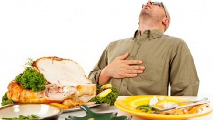 ilustrasi menahan makan