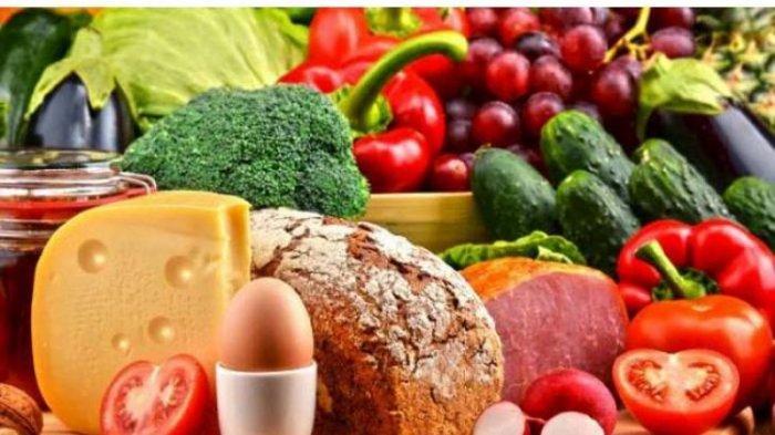 ilustrasi makanan sehat dan bergizi seimbang