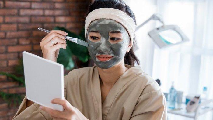 Ilustrasi perawatan pada kulit berminyak