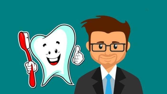 Ilustrasi merawat gigi