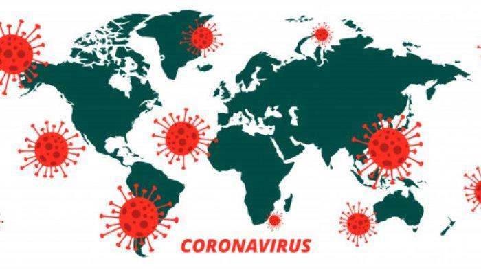 Ilustrasi virus Covid-19.