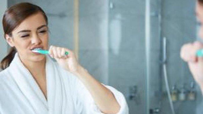 Ilustrasi menyikat gigi yang tepat