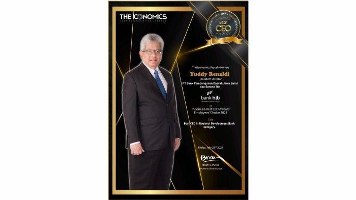 Dirut bank bjb Yuddy Renaldi Raih Penghargaan CEO Terbaik BPD di Indonesia