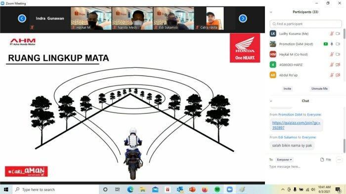 DAM Adakan Edukasi Webinar Safety Riding untuk Jasa Ekspedisi Shopee Express