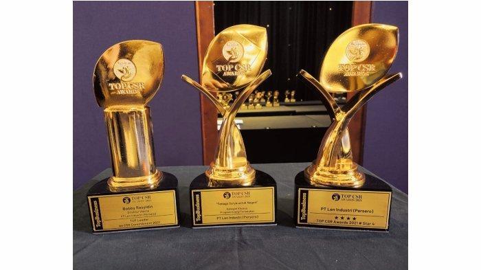 Program CSR Tenaga Surya Len Industri Menangkan TOP CSR  Award 2021