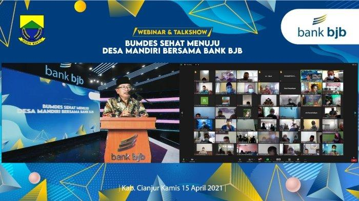 "bank bjb Cabang Cianjur Gelar Webinar ""BUMDes Sehat Menuju Desa Mandiri Bersama Bank bjb"""