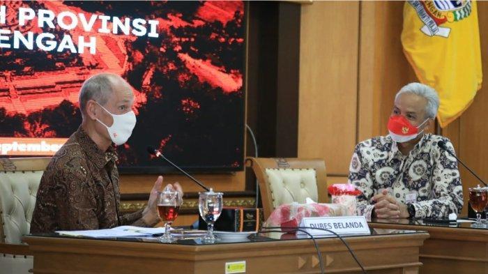 Duta Besar Belanda untuk Indonesia, Lambert Grijns datang ke Jawa Tengah untuk menemui Gubernur Ganjar Pranowo, Rabu (29/9/2021).
