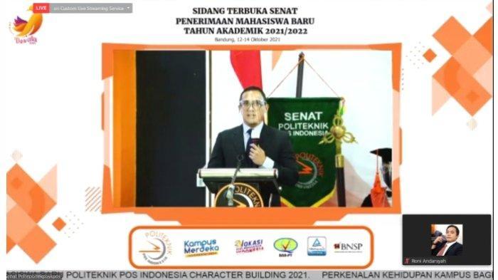 Poltekpos Menggelar Sidang Terbuka Senat Dalam Rangka Pengukuhan Mahasiswa Baru TA 2021/2022