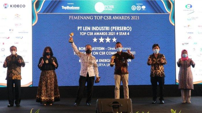 Program CSR Tenaga Surya Len Industri Menangkan TOP CSR  Award 2021.