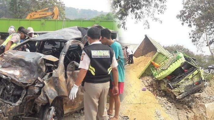 Pengakuan Subana, Sopir Dump Truck yang Terlibat Kecelakaan Tol Cipularang, Nyangkut di Bibir Jurang